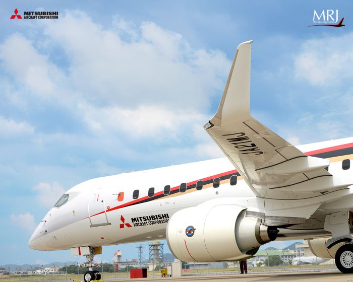 MRJ90 on ground